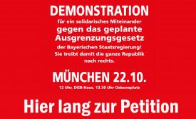 Petition und Demo gegen das Integrationsgesetz
