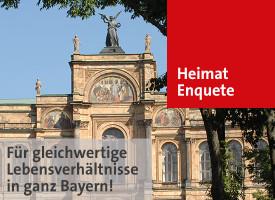 Link zu Infos über die Enquete-Kommission des Landtags, die sich für Gleichwertige Lebensverhältnisse in ganz Bayern einsetzt