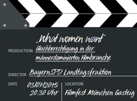 Podiumsdiskussion zur Gleichberechtigung in der Filmbranche