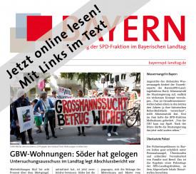 Titelseite der PDF-Version der Fraktionszeitung