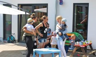 """Martina Fehlner in der """"Kita am Campus"""" in Aschaffenburg"""