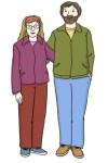 Zeichnung: Elternpaar