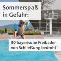 Getrübter Sommerspaß: 30 öffentliche Freibäder in Bayern von der Schließung bedroht (MIT O-TON