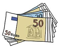 Zeichnung: Geldscheine