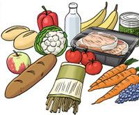 Zeichnung: Lebensmittel