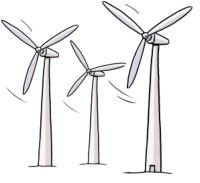 Zeichnung: Windräder