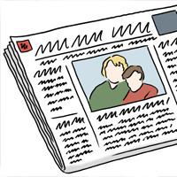 Zeichnung: Zeitung
