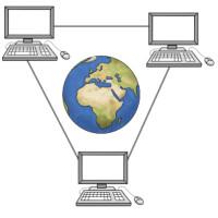 Zeichnung: Vernetzte Computer