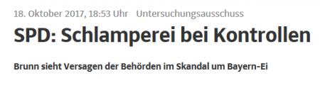 UA Bayern-Ei in der SZ 18.10.