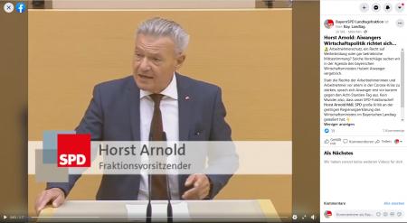 Videovorschau Arnold zur Regierungserklärung