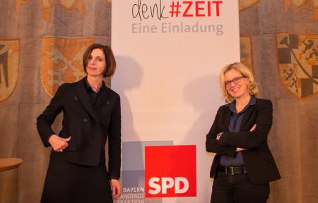 Prof. Dr. Jutta Allmendinger (links) und Natascha Kohnen
