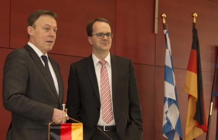 Fraktionsvorsitzendenkonferenz 1 (Rinderspacher und Oppermann)