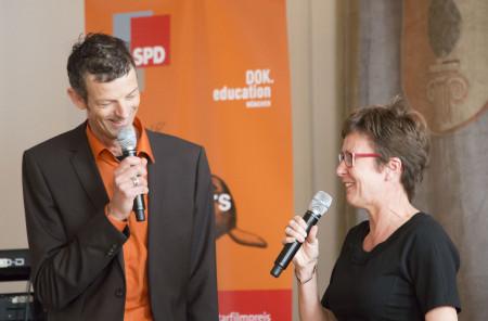 Isabell Zacharias, MdL und Daniel Sponsel, Geschäftsführer DOK.fest