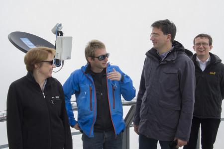 Annette Karl und Florian von Brunn im Gespräch mit Dr. Till Rehm, wissenschaftlicher Koordinator