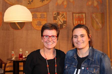 Isabell Zacharias und Nadine Angerer
