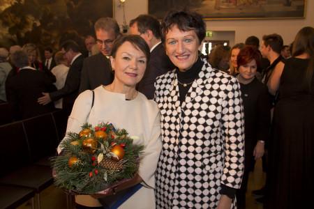 Helga Schmitt-Bussinger und Inge Aures