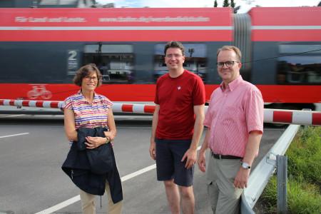 Rinderspacher und von Brunn im Gespräch mit der 1. Bürgermeisterin von Garmisch-Partenkirchen Sigrid Meierhofer