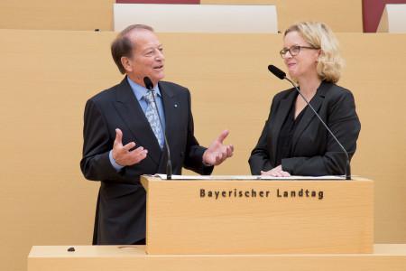 Prof. Peter-Paul Gantzer und Natascha Kohnen