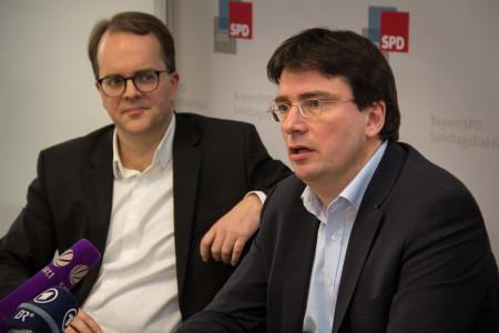 Markus Rinderspacher und Florian von Brunn bei der SPD-PK über den ORH-Prüfbericht