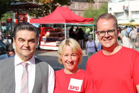 Bürgermeister Klaus Herzog, Martina Fehlner und Markus Rinderspacher (v.l.)