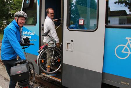 Radl in Bahn