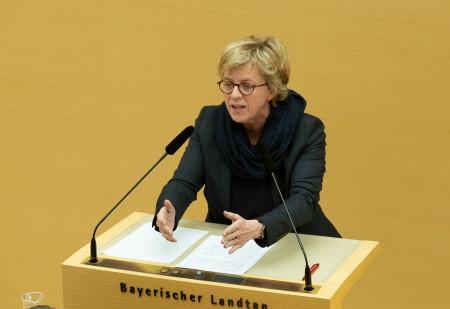 Natascha Kohnen am Mittwoch bei ihrer Rede im Landtag