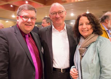 Volkmar Halbleib, Parlamentarischer Geschäftsführer, der frühere Fraktionsvorsitzende Franz Maget und die Kirchenpolitikerin Ruth Müller (von links)