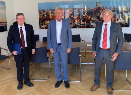 V.l.: Volkmar Halbleib, Dieter Reiter und Horst Arnold