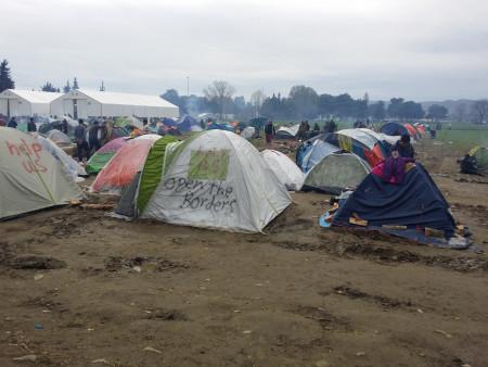 Zelte in Idomeni