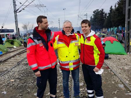 Pfaffmann mit ASB-Kollegen