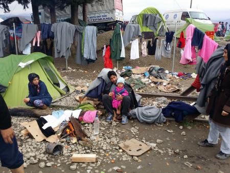 Flüchtlingsfamilie Idomeni