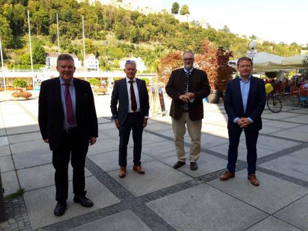 V.l.: Volkmar Halbleib, Horst Arnold, Jürgen Dupper, Christian Flisek