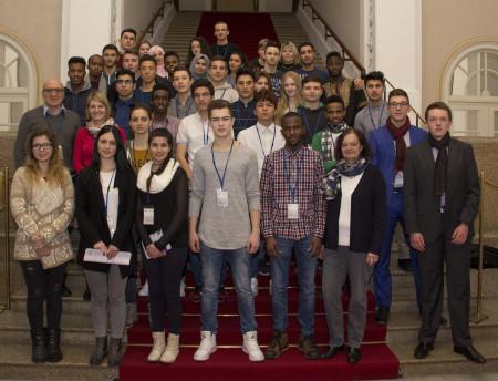 Besuch Berufsschule Nürnberg Gruppenfoto