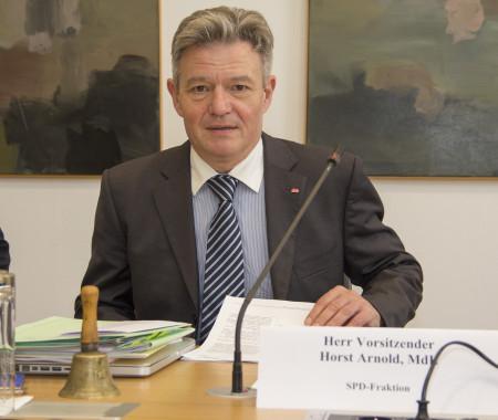 Horst Arnold, Vorsitzender des Untersuchungsausschusses