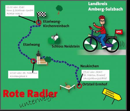 Radltour Karte Etappe 3 Oberpfalz