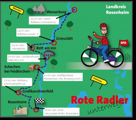 Radlertour Karte Etappe 1 Oberbayern