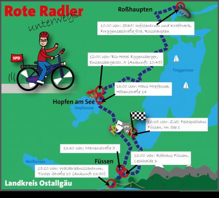 Radltour Karte Etappe 5 Schwaben