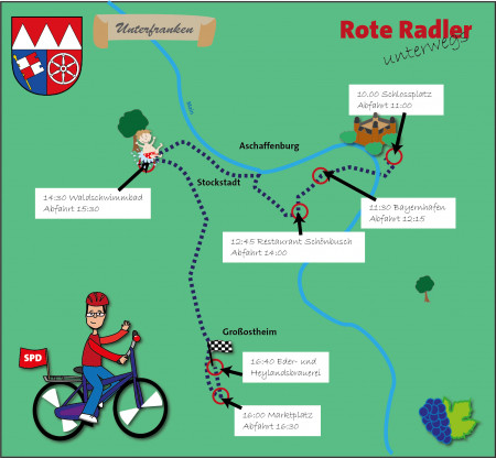 Rote Radler Aschaffenburg 28.8.