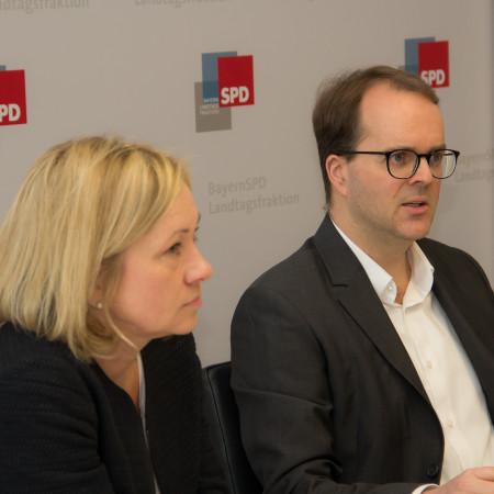 Doris Rauscher und Markus Rinderspacher bei PK