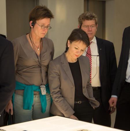 Isabell Zacharias, Helga Schmitt-Bussinger und Georg Rosenthal