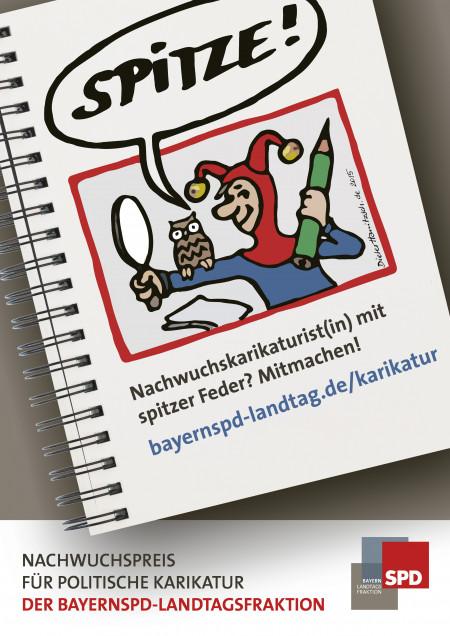 Plakat Karikaturen-Wettbewerb