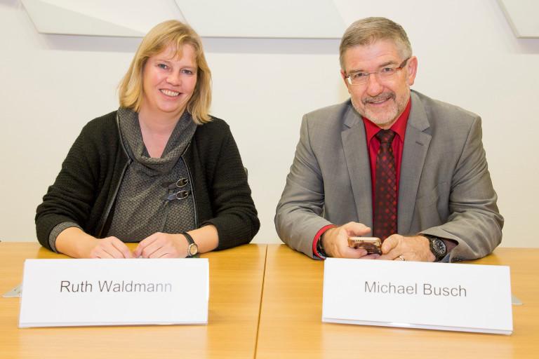 Ruth Waldmann zusammen mit ihrem neuen SPD-Ausschuss-Kollegen Michael Busch