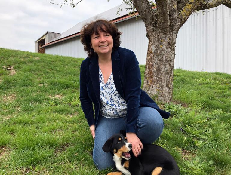 Ruth mit Hund