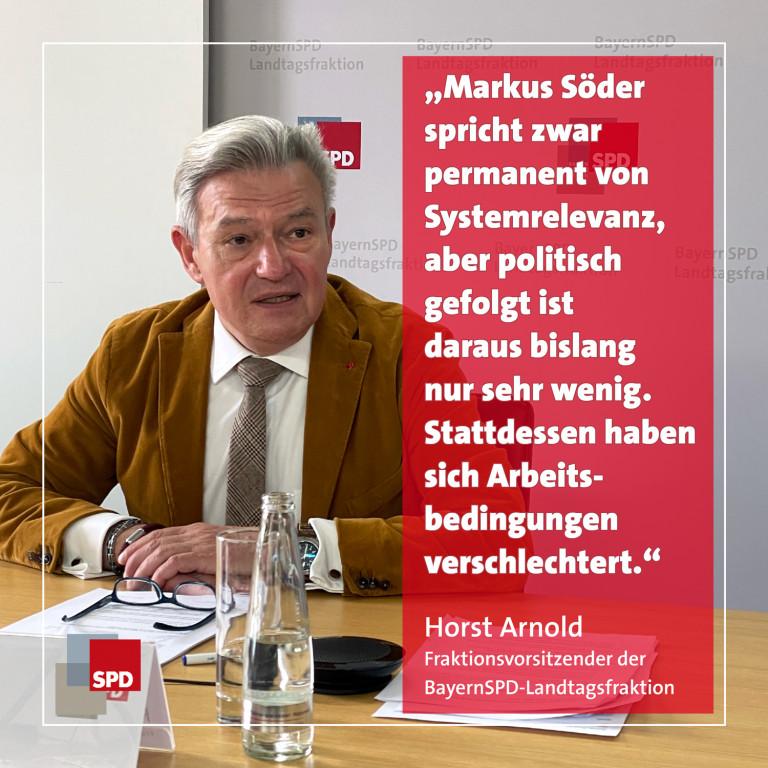 Pressekonferenz Horst Arnold