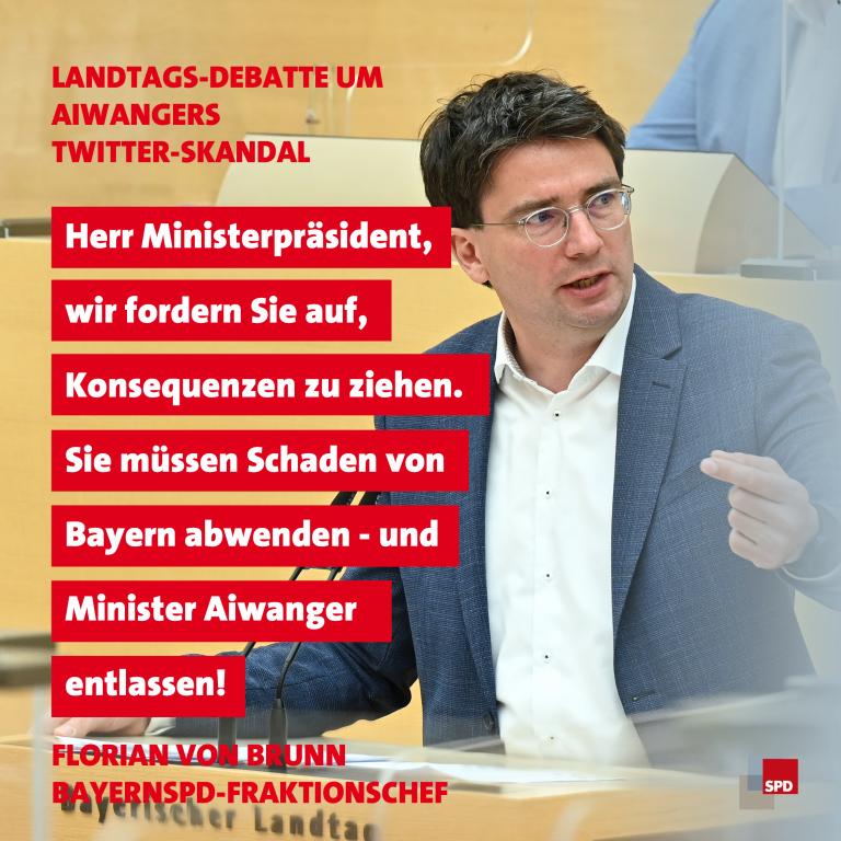 Zitat Florian von Brunn Aiwanger 29. September