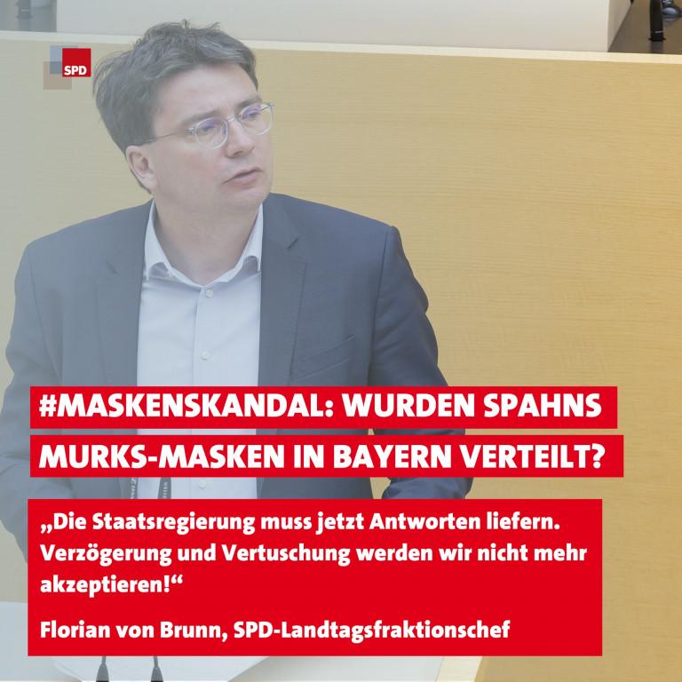 Florian von Brunn zu Maskenskandal