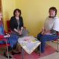 Ruth Müller (Mitte) beim Verein Menschenskinder in Ergolding