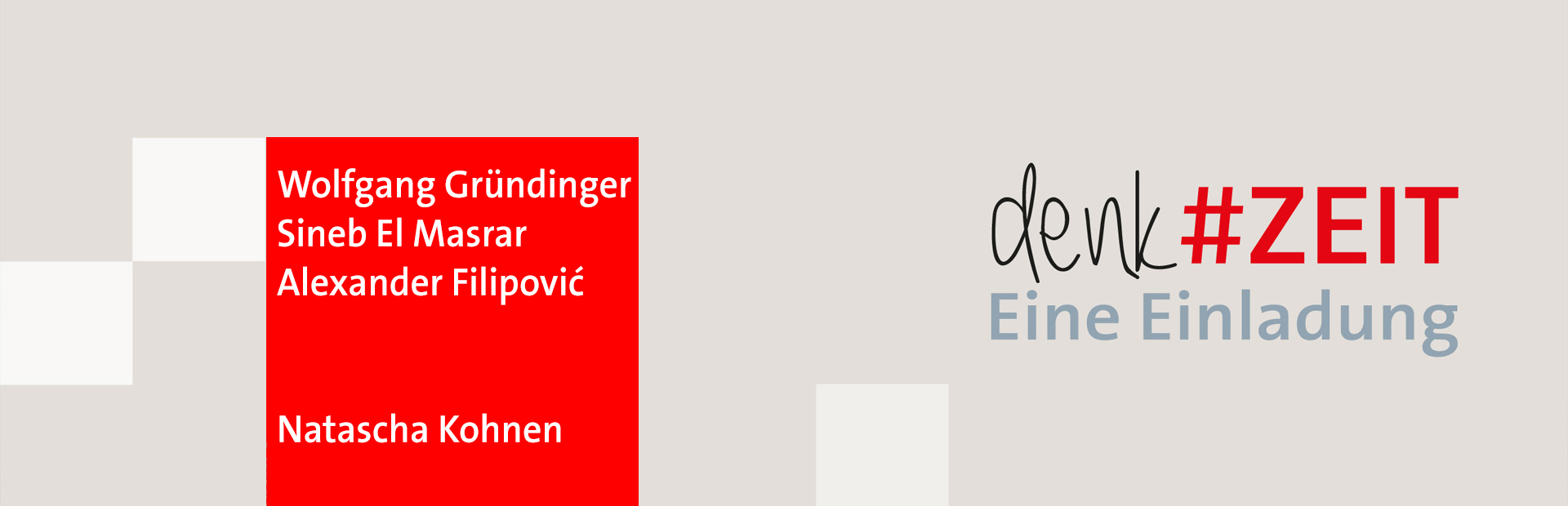 denk#ZEIT. Eine Einladung. Das Logo der Veranstaltungsreihe der BayernSPD-Landtagsfraktion